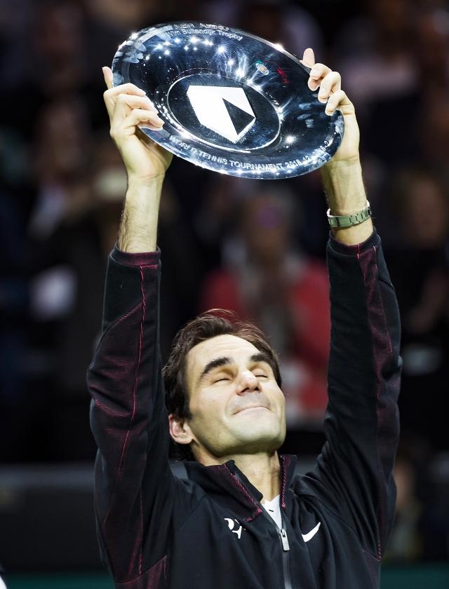 Roger Federer won in 2018 het ABN AMRO World Tennis Tournament. Er komen nu weer grote namen zegt de organisatie.   (anp / Koen Suyk)