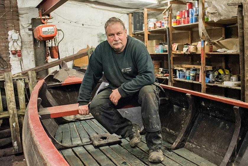 Punterbouwer Jan Schreur  (Marcel van den Berg en Simon Lenskens)