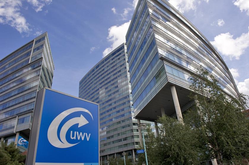 Het hoofdkantoor van UWV in Amsterdam.  (anp / Marcel Antonisse)