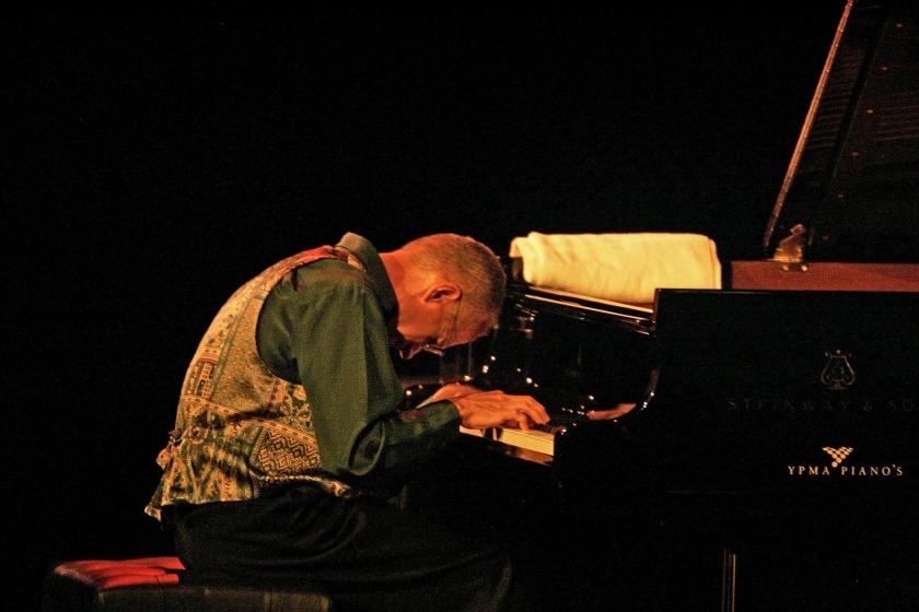 Jazz pianist Keith Jarrett tijdens een optreden op North Sea Jazz in het Nederlands Congres Centrum in Den Haag.  (anp / Olaf Kraak)