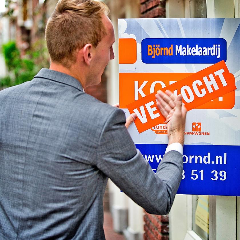 De verkooptijd van verkochte huizen is met 45 dagen niet meer zo kort geweest sinds 2000.   (anp / Guus Schoonewille)