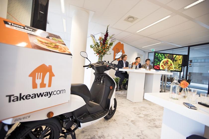 Takeway is in Nederland de onbetwiste marktleider, maar moet in het buitenland stevig concurreren.  (anp / Jeroen Jumelet)