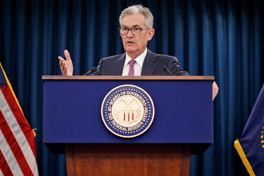 Fed-voorzitter Jerome Powell hintte meermaals op een renteverlaging.  (epa / Shawn Thew)