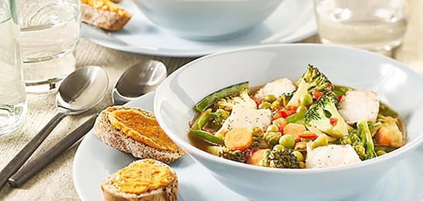 Recept: Vissoep met rouille  (voedingscentrum)