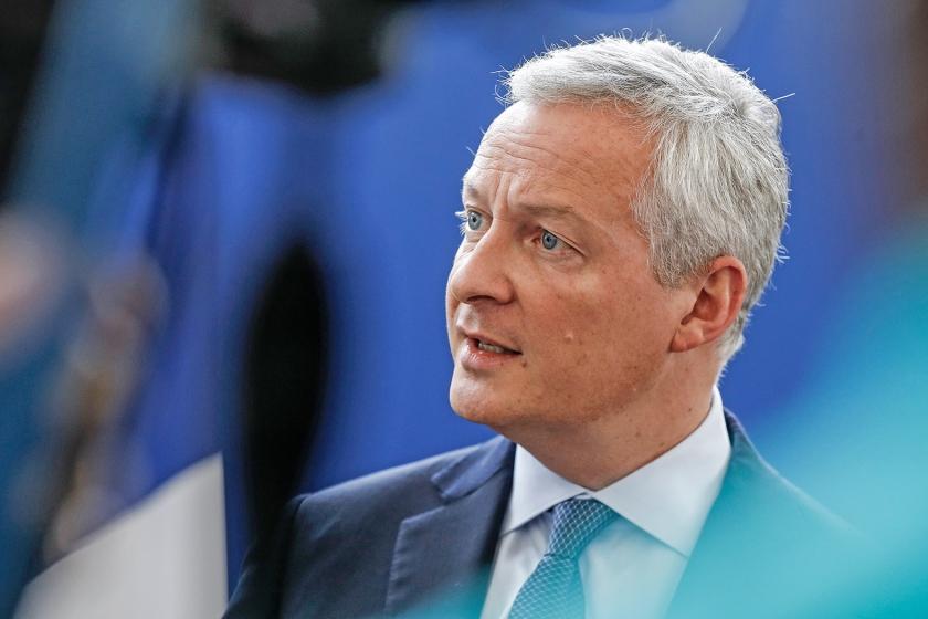 De Franse minister Bruno Le Maire stelde zich bij de zoektocht naar een nieuwe IMF-directeur allesbehalve neutraal op.  (afp / Francois Guillot)