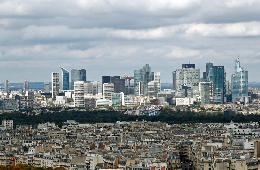 In La Défense zetelen de toonaangevende bedrijven van Frankrijk.  (ap / Christophe Ena)