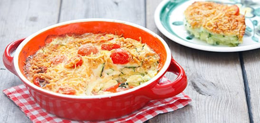 Recept: Courgette-tomatengratin  (voedingscentrum)