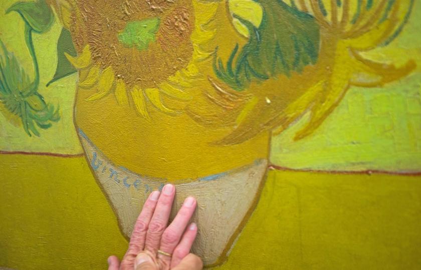 Zonnebloemen, van Vincent van Gogh.  (ap)