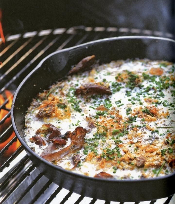 Recept: Gegrilde eieren met prosciutto   (uit besproken boek)