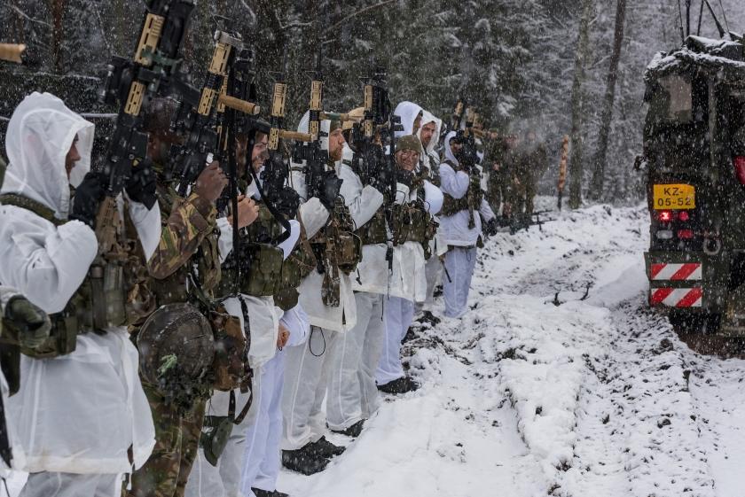 Oefening Winter Wolf in Litouwen.  (mediacentrum defensie)