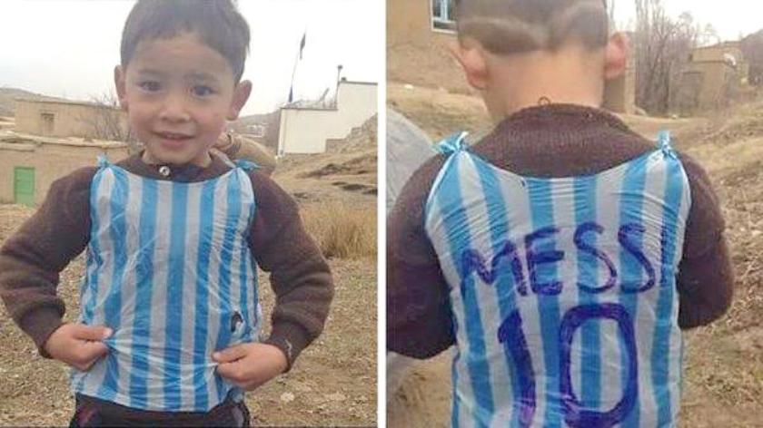 Viral: 'Messi' op een plastic zakje  (twitter)