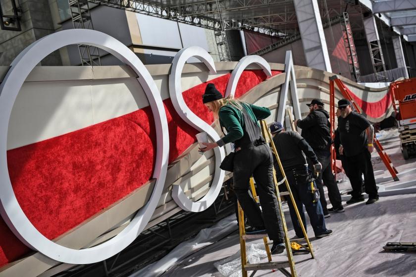 In Hollywood worden voorbereidingen getroffen voor de 91e editie van de uitreiking van de Oscars.  (afp / Eric Baradat)
