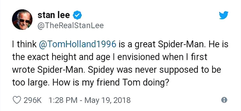 Viral: Red de held Spider-Man  (twitter)