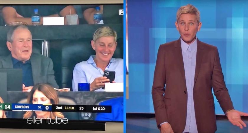 Viral: Boosheid om vriendschap tussen Ellen DeGeneres en George W. Bush  (youtube)