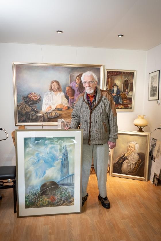 Het oorlogsverhaal van Hans Pieters (87) uit Arnhem   (Niek Stam)