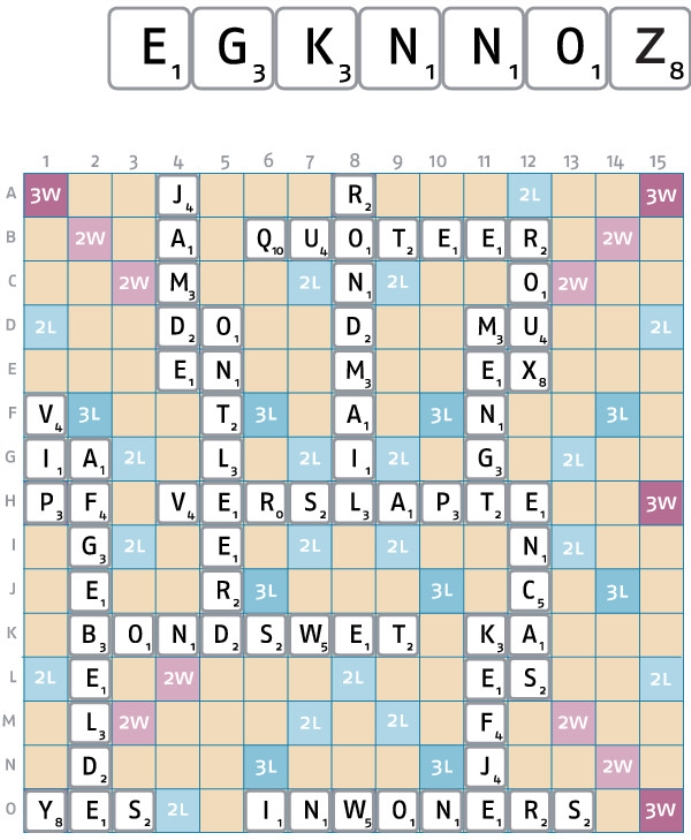 Dertiende nd-scrabblespel ronde 11