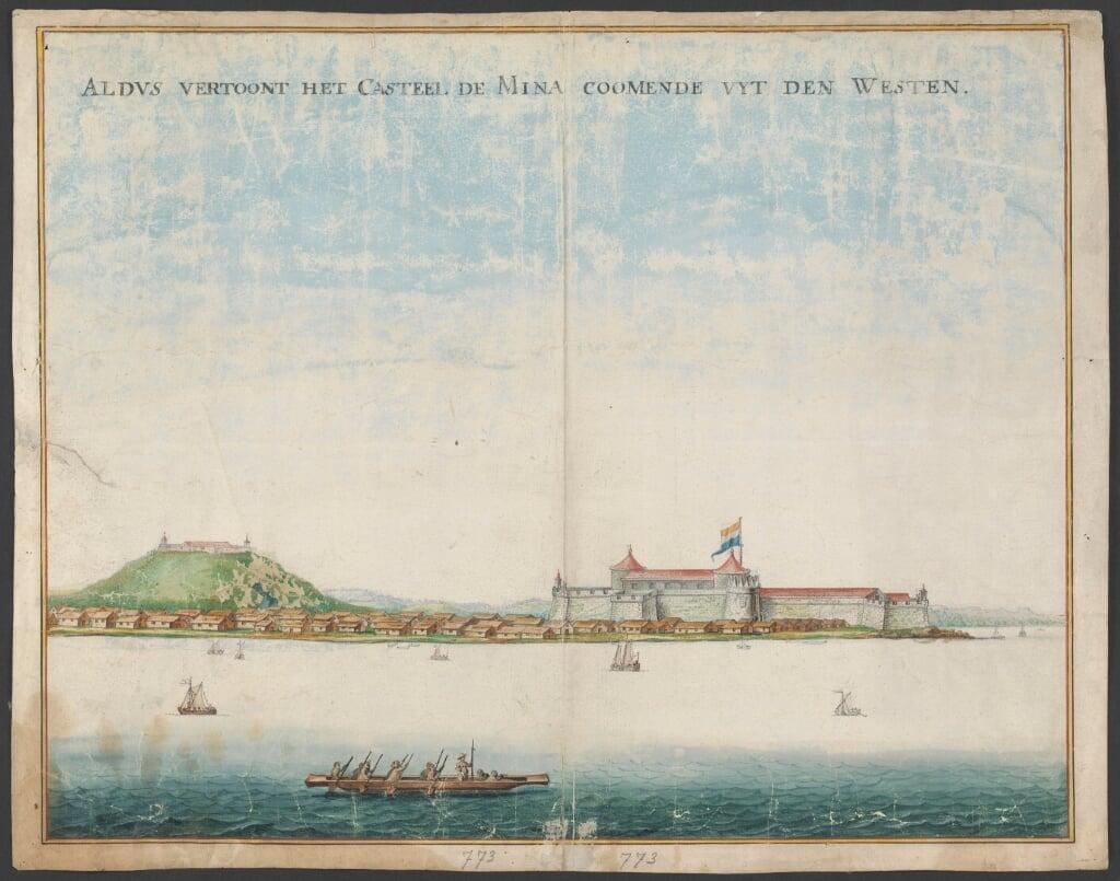 Het Kasteel D'Elmina, 17de eeuw  (beeld Nationaal Archief)