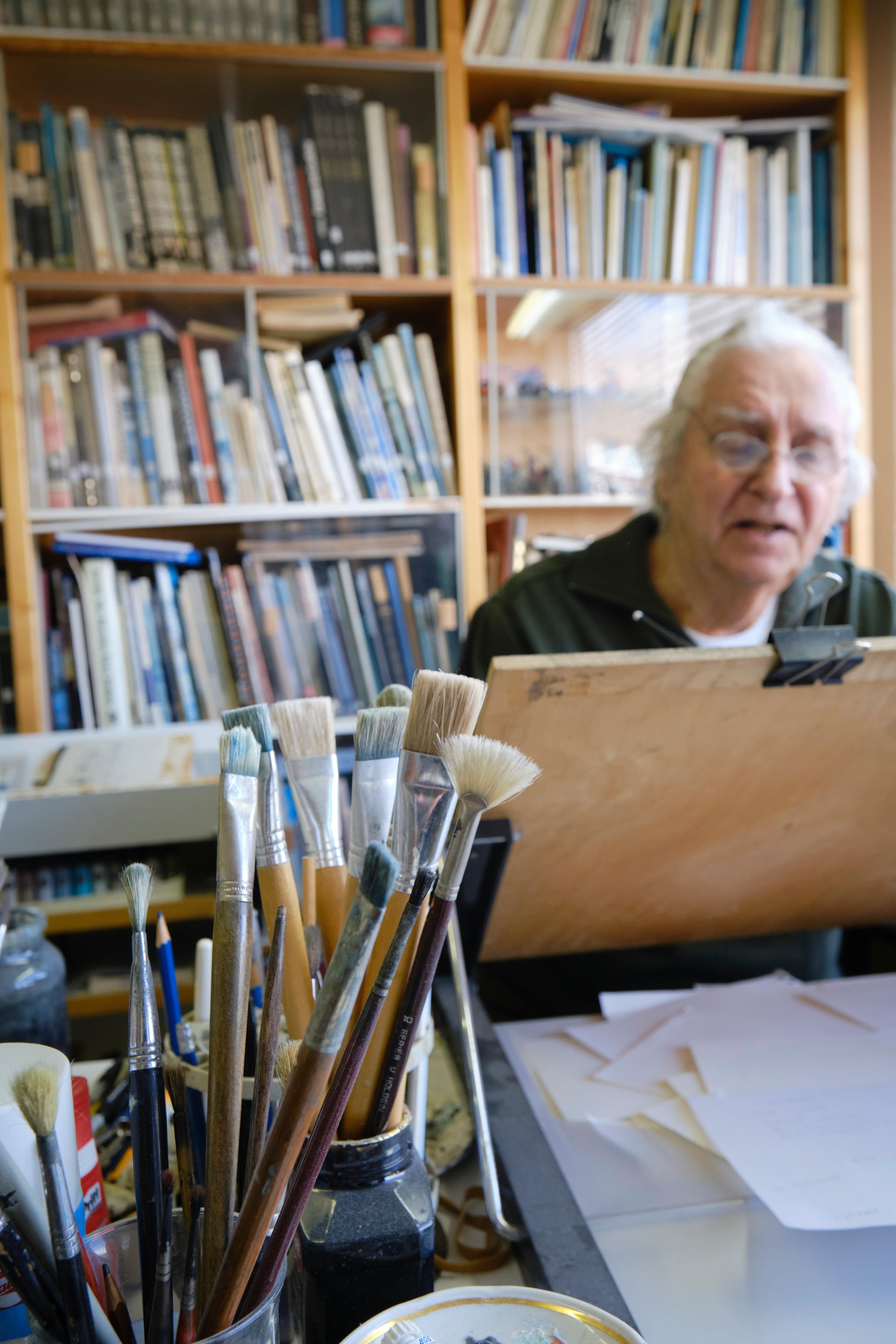 Groningen - Illustrator Jaap Kramer (85) stopt met werken